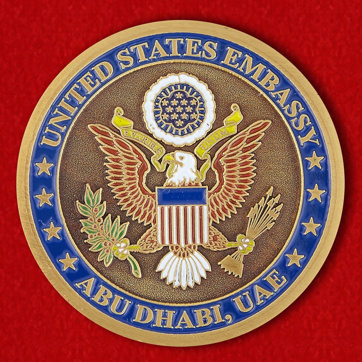 Челлендж коин Посольства США в Абу-Даби