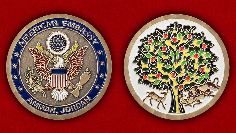 Челлендж коин посольства США в Иордании - аверс и реверс