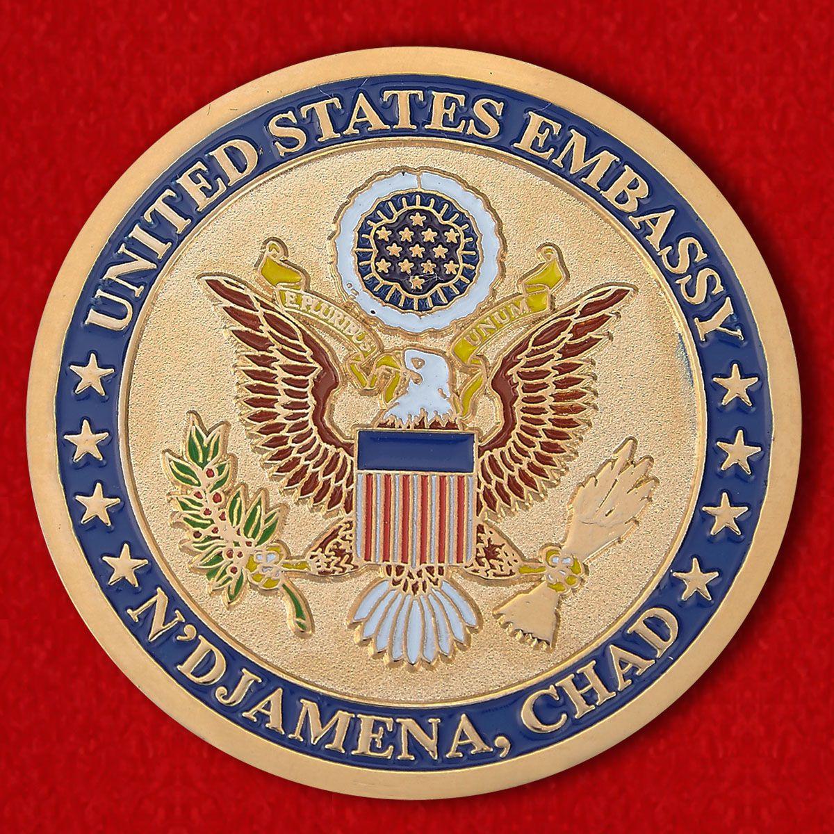 """Челлендж коин """"Посольство США в Нджамене"""""""