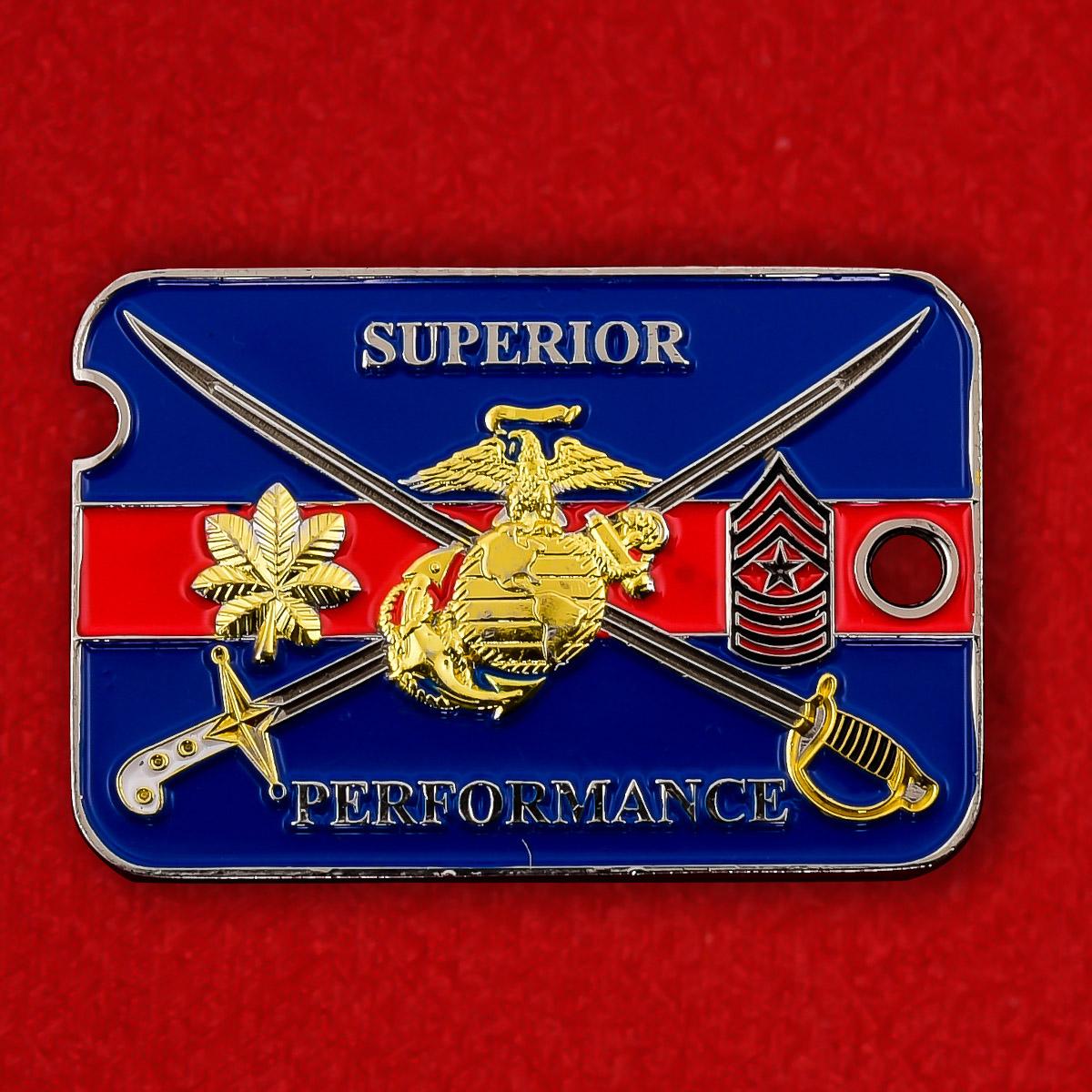"""Челлендж коин """"Призывной пункт Корпуса Морской пехоты США в Нью-Йорке"""""""