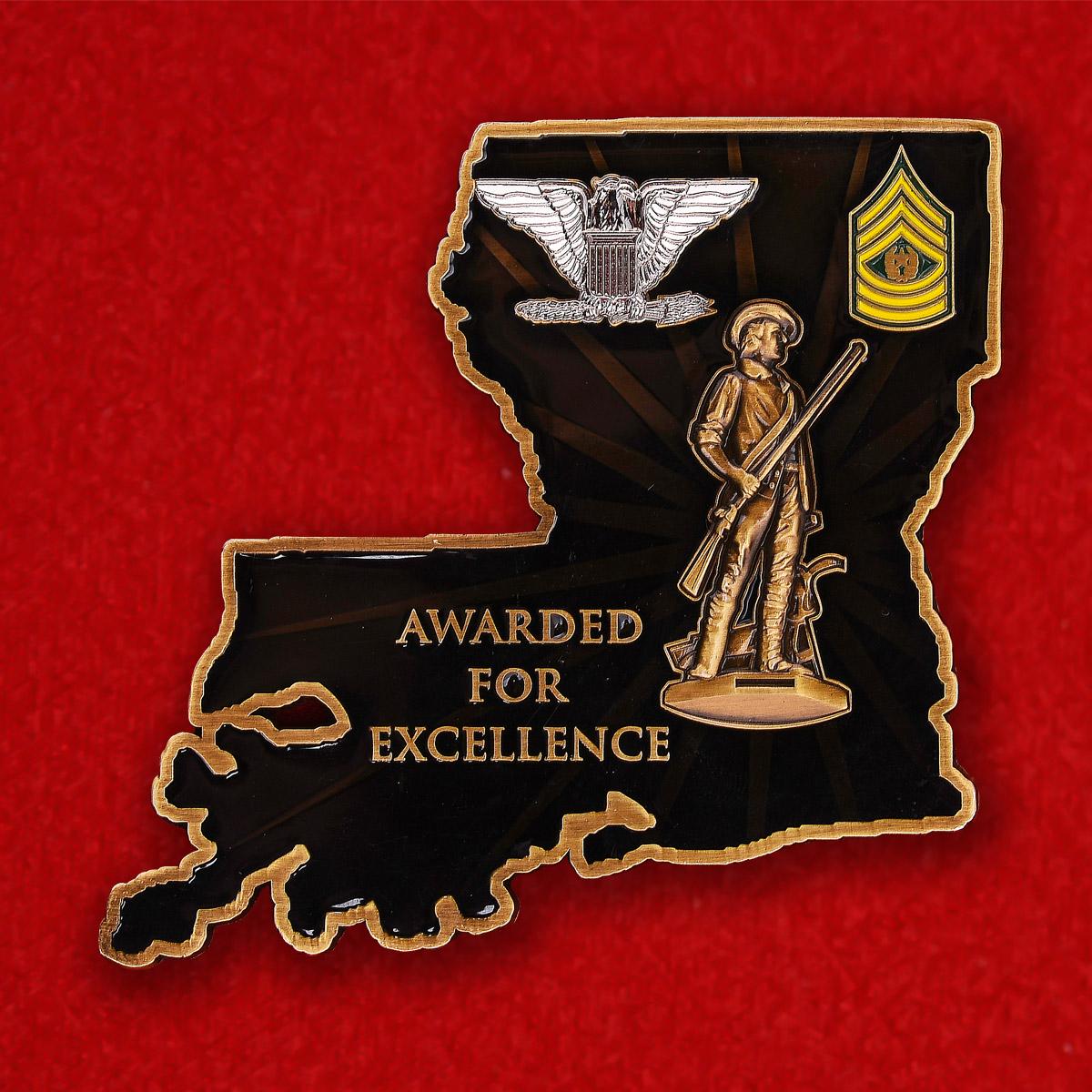 """Челлендж коин """"Призывным пунктам Армии США от командования"""""""