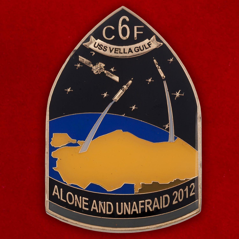 """Челлендж коин """"Ракетный крейсер USS Vella Gulf (CG-72) ВМС США"""""""