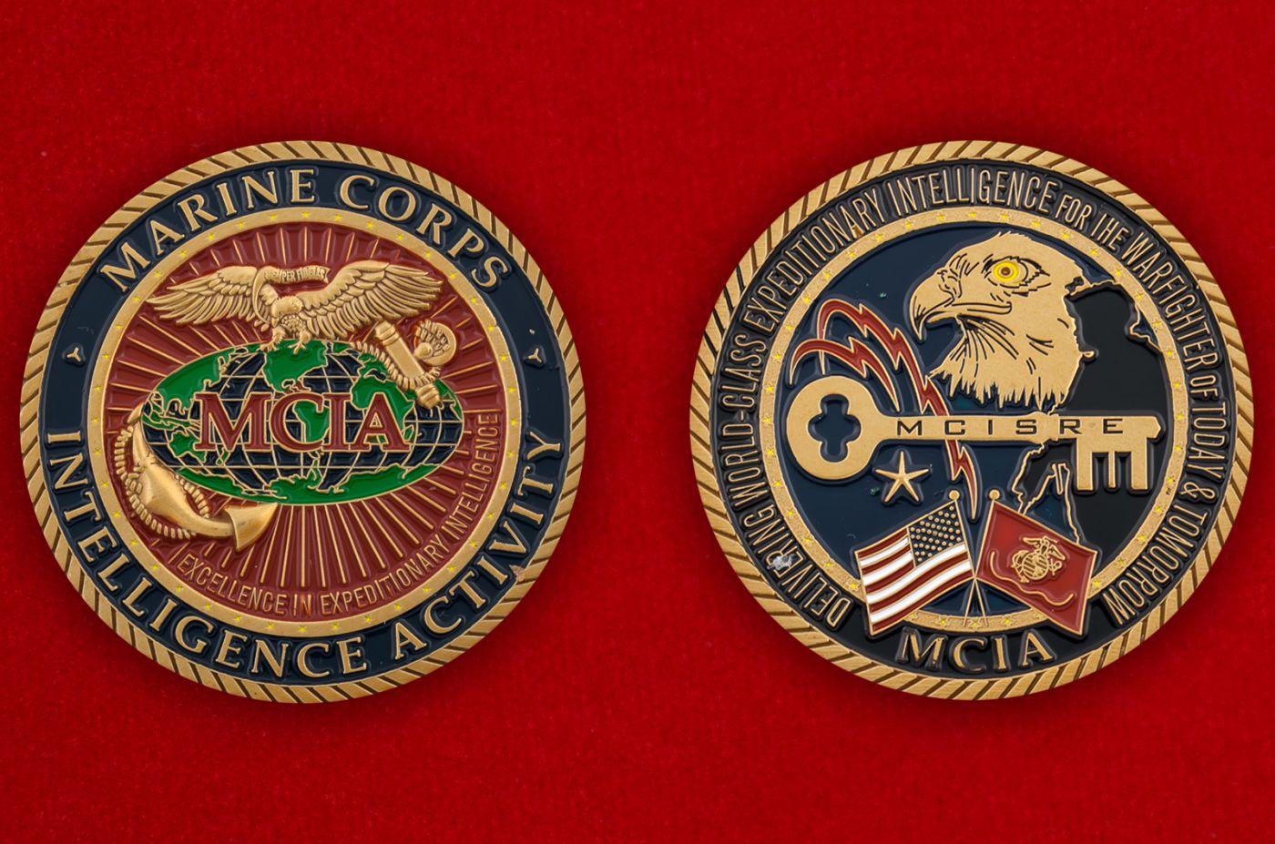 Челлендж коин разведки Корпуса Морской пехоты США - аверс и реверс