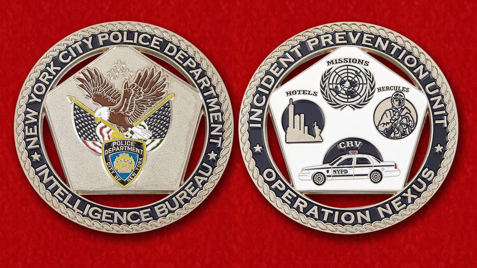 Челлендж коин Разведывательного бюро полиции Нью-Йорка - аверс и реверс