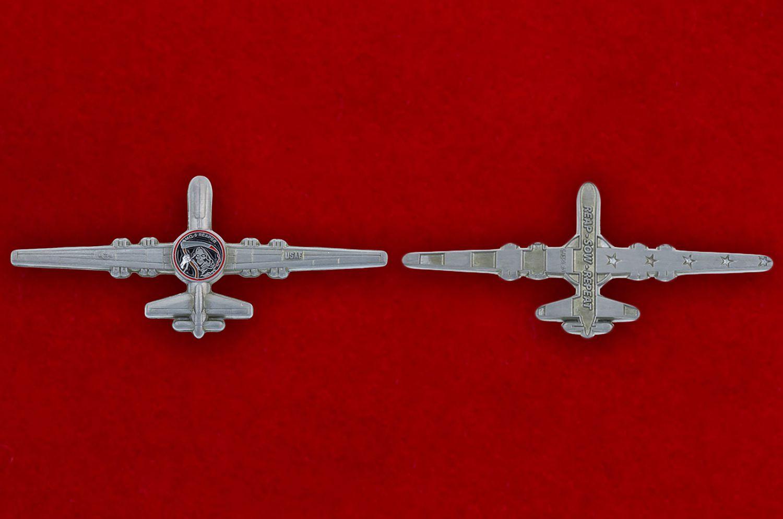"""Челлендж коин """"Разведывательно-ударный БПЛА MQ-9 Reaper ВВС США"""" - аверс и реверс"""