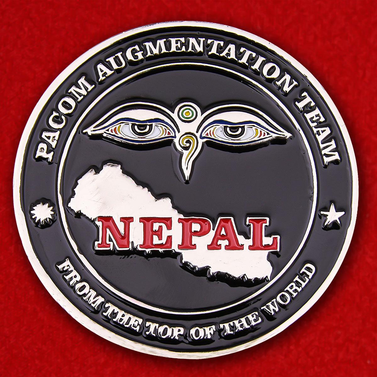 Челлендж коин резерных частей усиления Тихоокеанского командования ВС США при посольстве в Непале