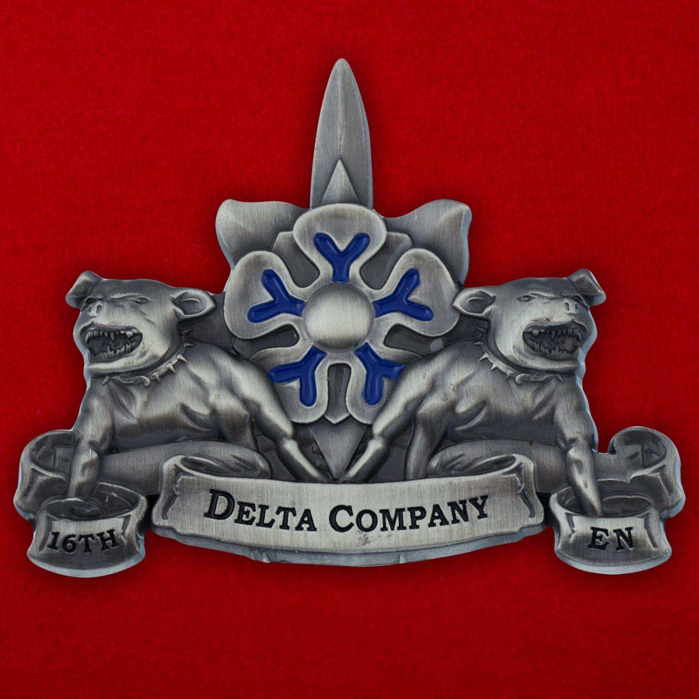 """Челлендж коин роты """"Дельта"""" 16-го инженерного батальона Армии США"""