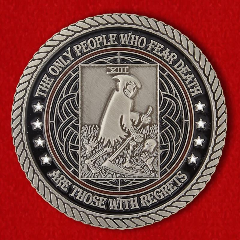 """Челлендж коин с девизом """"Ужасные"""" 32-го батальона в Родезии - реверс"""