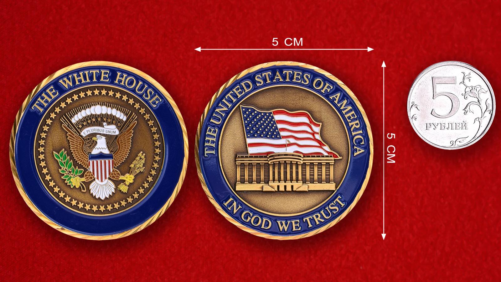 """Коллекционная монета с Национальным девизом США """"На Бога уповаем"""""""