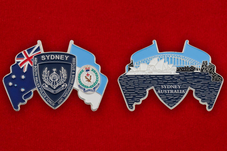 Челлендж коин саперов полиции штата Новый Южный Уэльс, Австралия - аверс и реверс