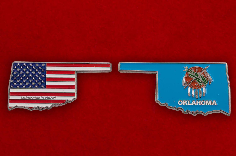 Челлендж коин штата Оклахома - аверс и реверс