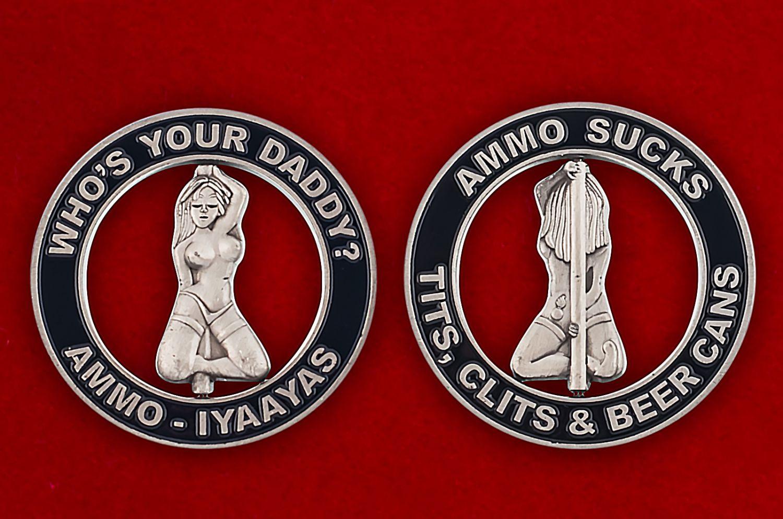 Челлендж коин Службы авиационного вооружения ВВС США - аверс и реверс