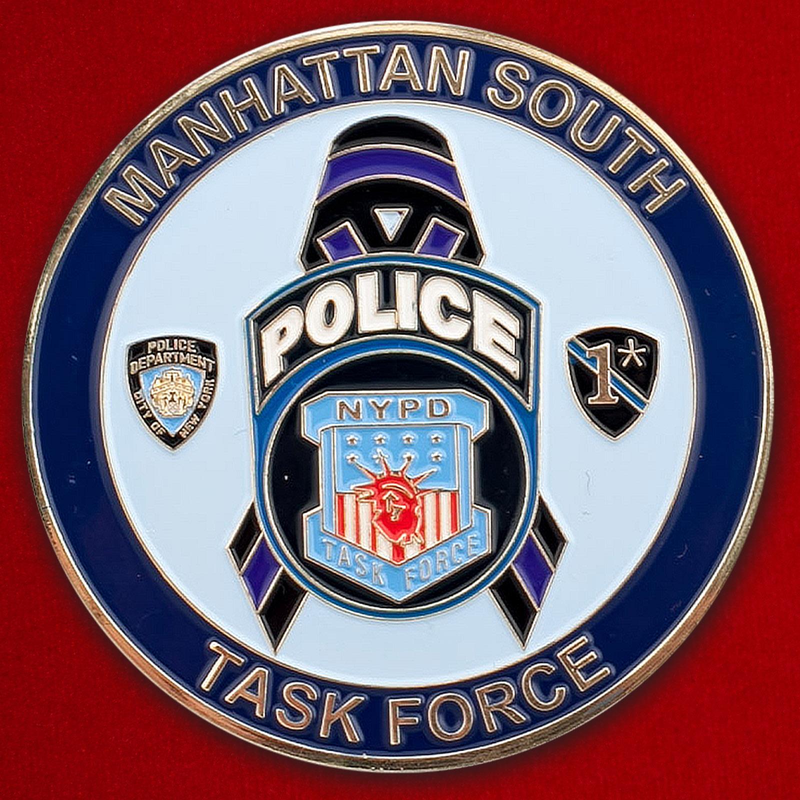 Челлендж коин сотрудников оперативной группы полиции Южного Манхэттена, Нью-Йорк