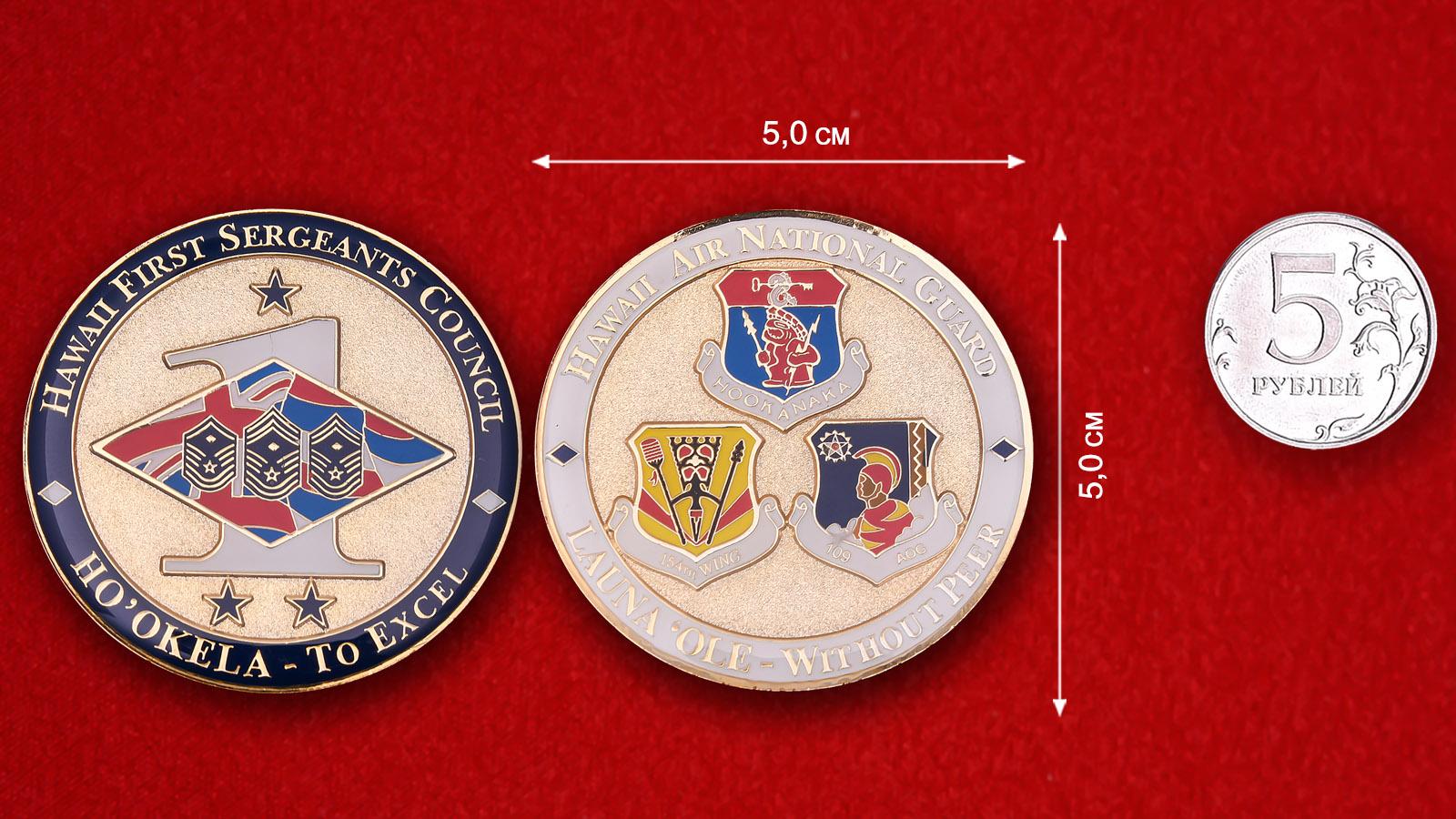 Челлендж коин Совета сержантского состава авиации Национальной гвардии США на Гаваях