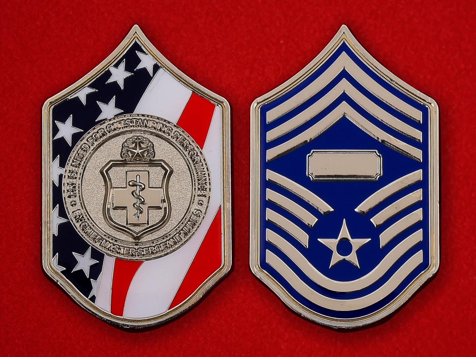 "Челлендж коин ""Старшему мастер-сержанту Янунесу Хирургической службы ВВС США"""