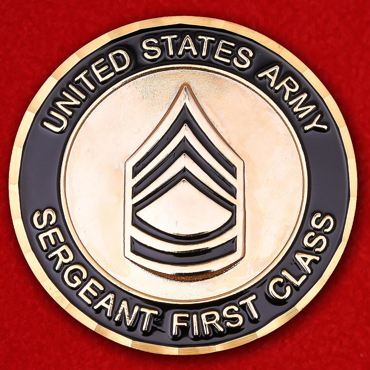 """Челлендж коин старших сержантов Армии США """"Ветерану операции Иракская свобода"""""""