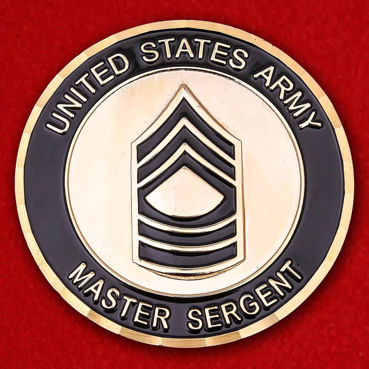 """Челлендж коин старшин Армии США """"Ветерану операции Иракская свобода"""""""