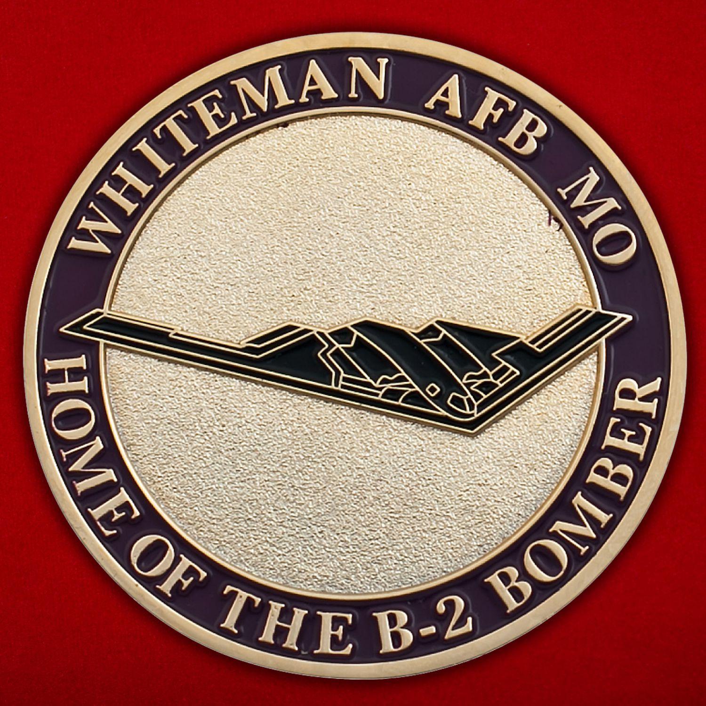 """Челлендж коин """"Стратегический бомбардировщик ВВС США Northrop B-2 Spirit"""""""