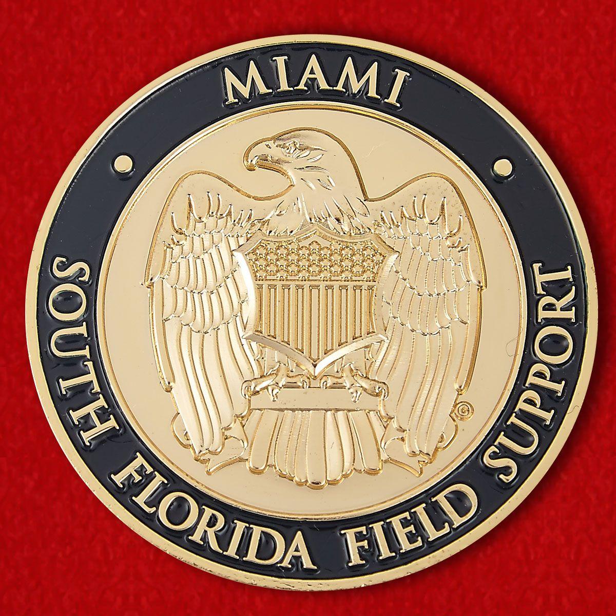 """Челлендж коин """"Таможня и Пограничная охрана США в Майами"""""""