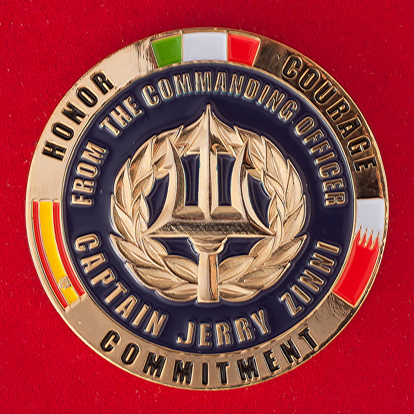 Челлендж коин Технического центра передового развертывания ВМС Италии и Испании в Бахрейне