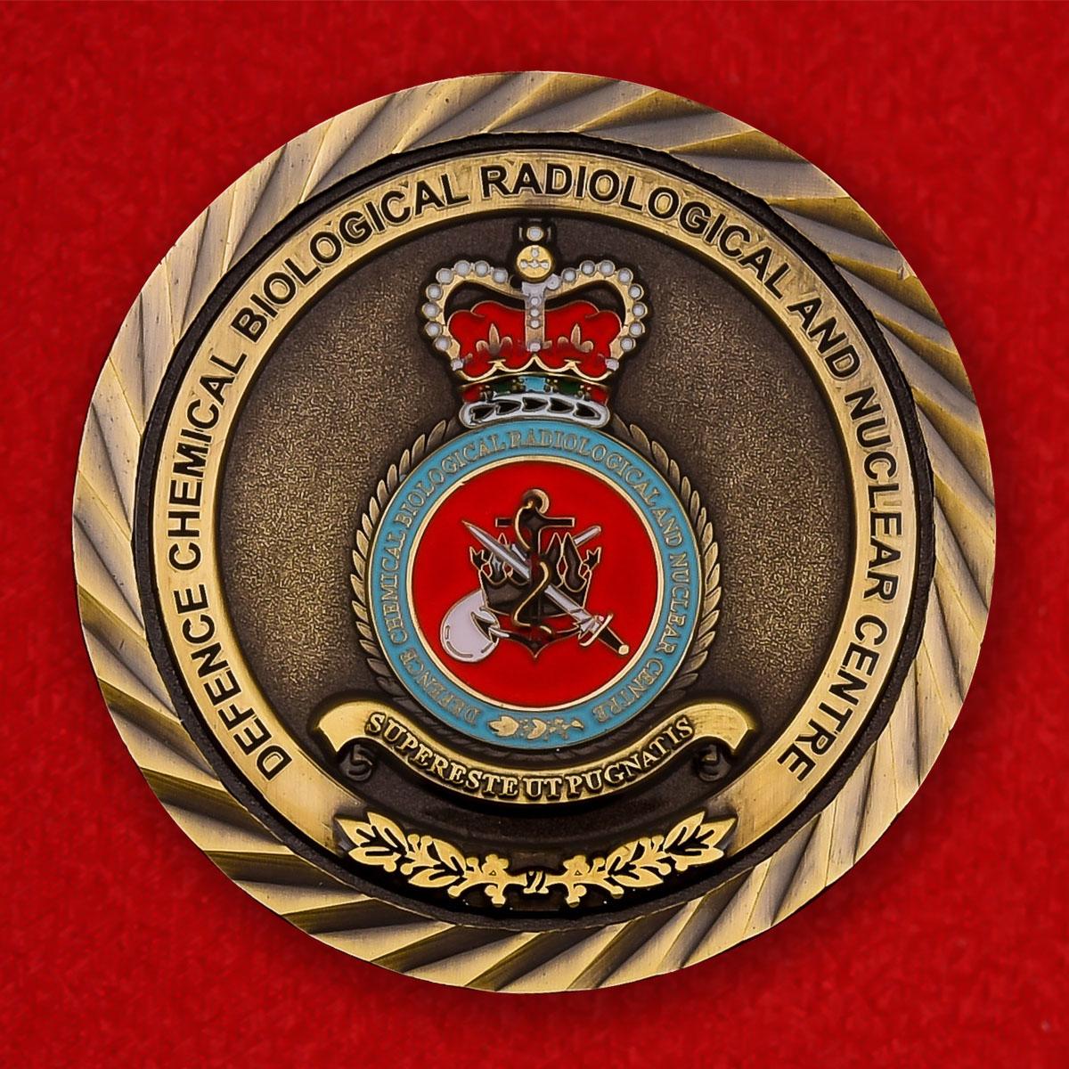 """Челлендж коин """"Центр химической, радилогической и ядерной защиты Министерства Обороны Великобритании"""""""