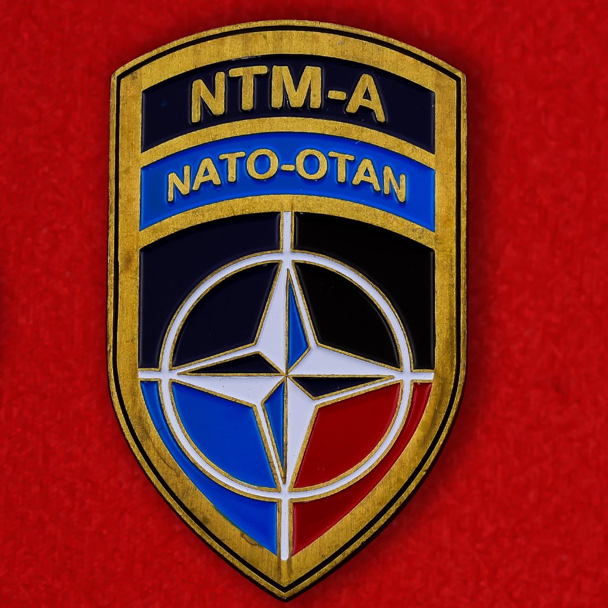 Челлендж коин Учебной миссии НАТО в Афганистане