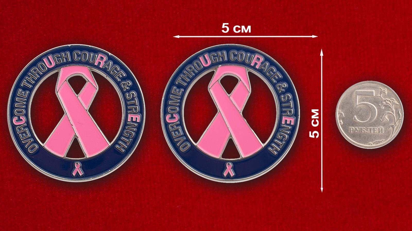 """Челлендж коин """"В поддержку программы борьбы против рака молочной железы"""""""