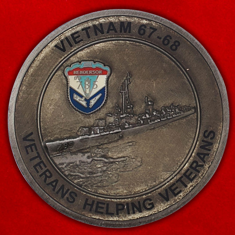 Челлендж коин ветерана войны во Вьетнаме Уоррена Джонсона