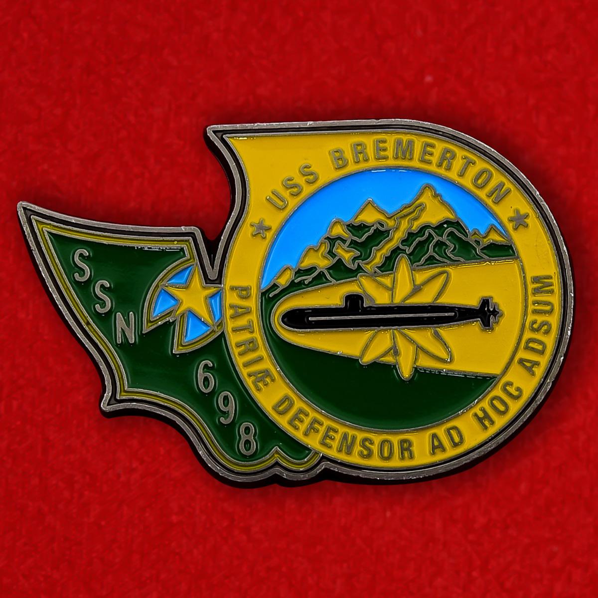 """Челлендж коин ВМС США """"Атомная подводная лодка Бремертон SSN-698"""""""