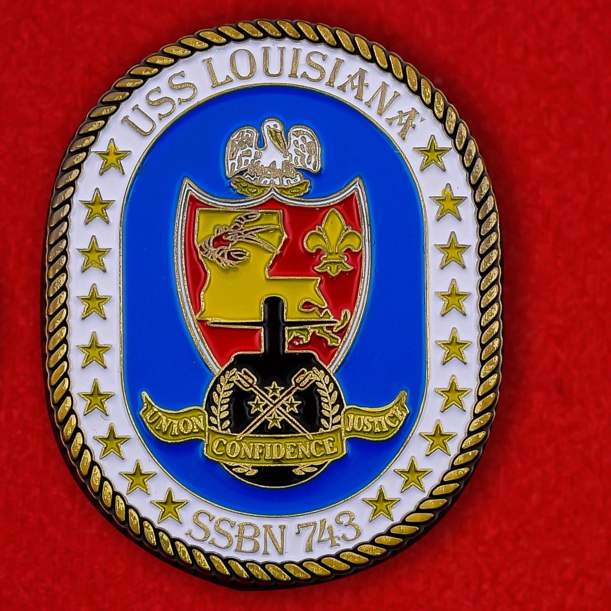 """Челлендж коин ВМС США """"Атомная подводная лодка """"Луизиана"""" SSBN-743"""""""