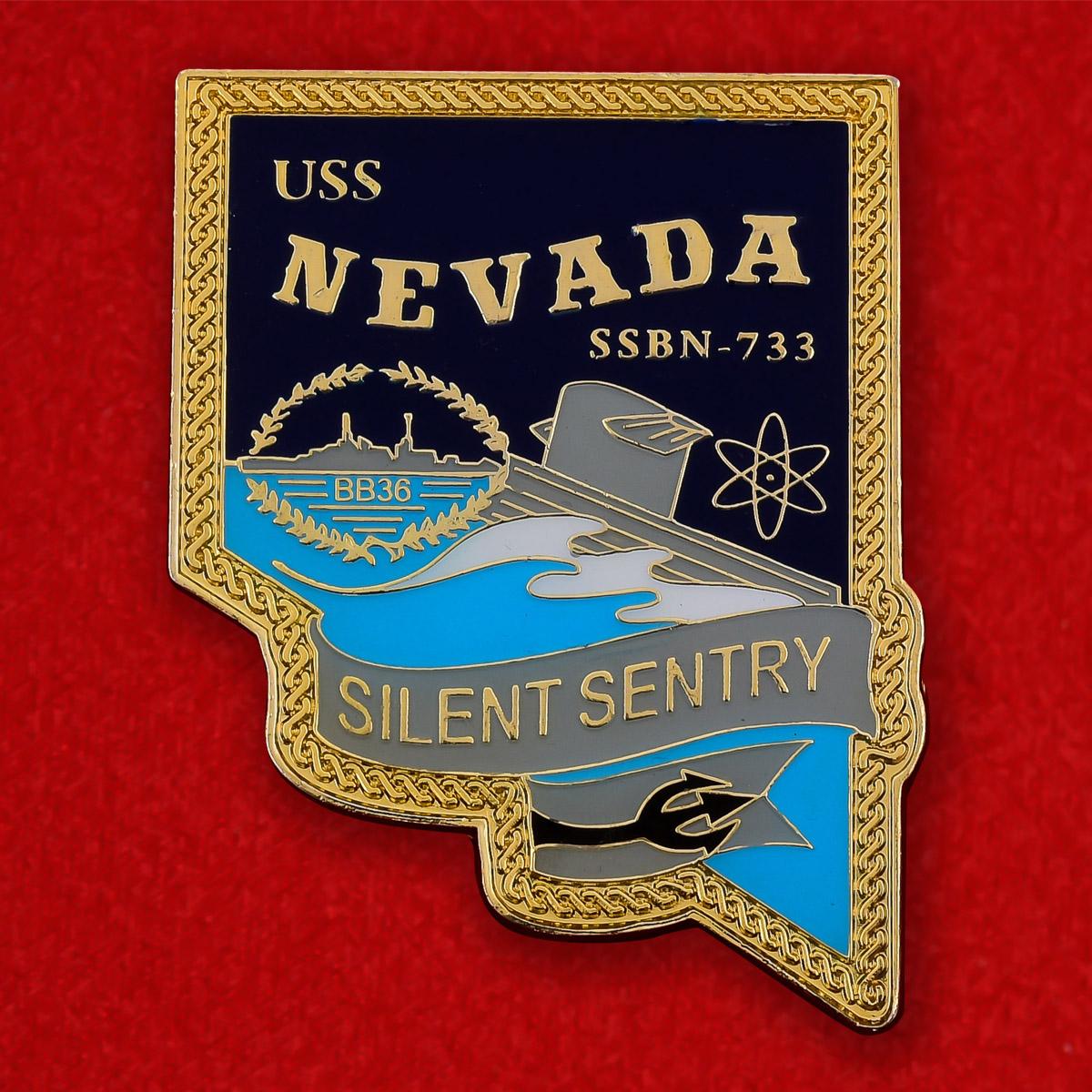 """Челлендж коин ВМС США """"Атомная подводная лодка """"Невада"""" SSBN-733"""""""