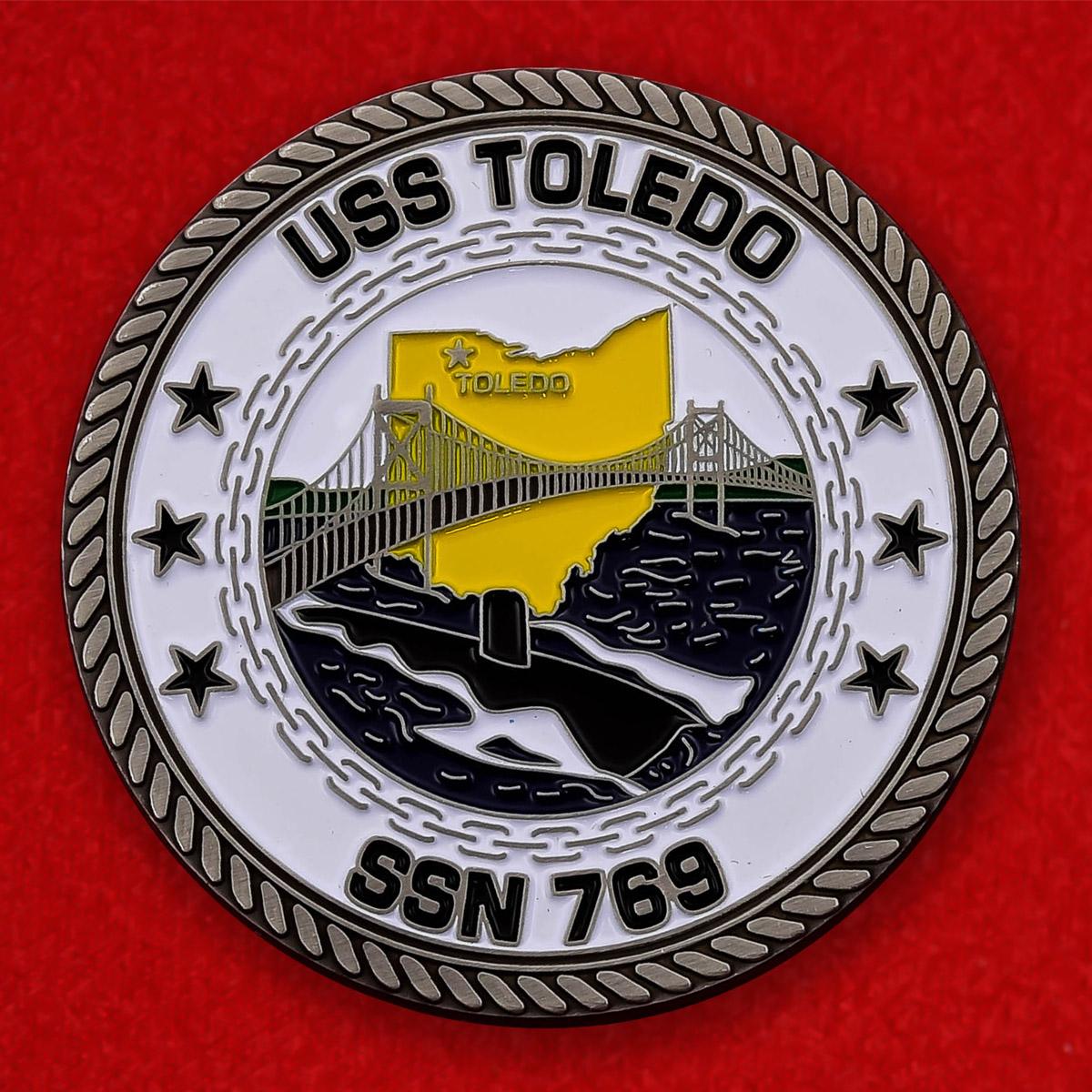 """Челлендж коин ВМС США """"Атомная подводная лодка Толедо"""""""