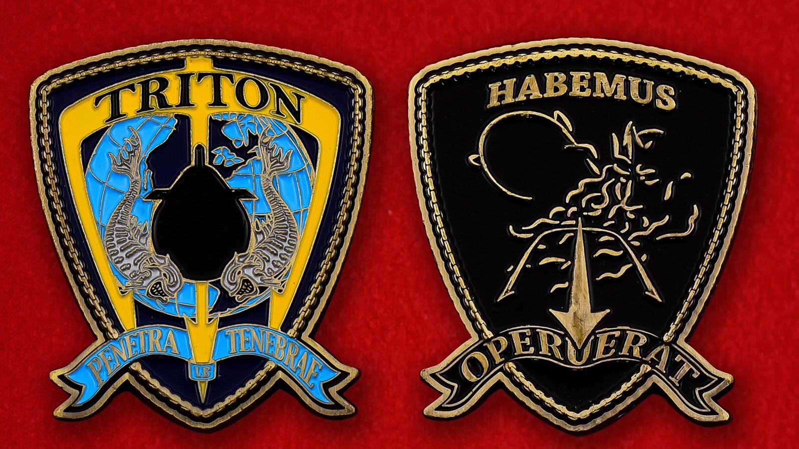 """Челлендж коин ВМС США """"USS Triton в память о подводном кругосветном плавании"""""""
