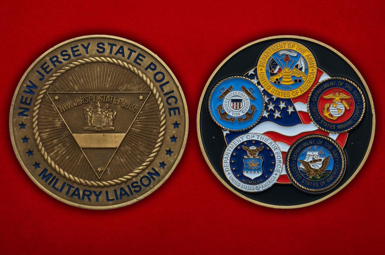 Челлендж коин Военной полиции штата Нью-Джерси - аверс и реверс