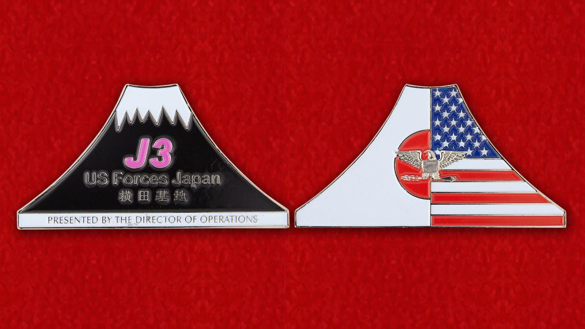 Челлендж коин ВС США в Японии - аверс и реверс