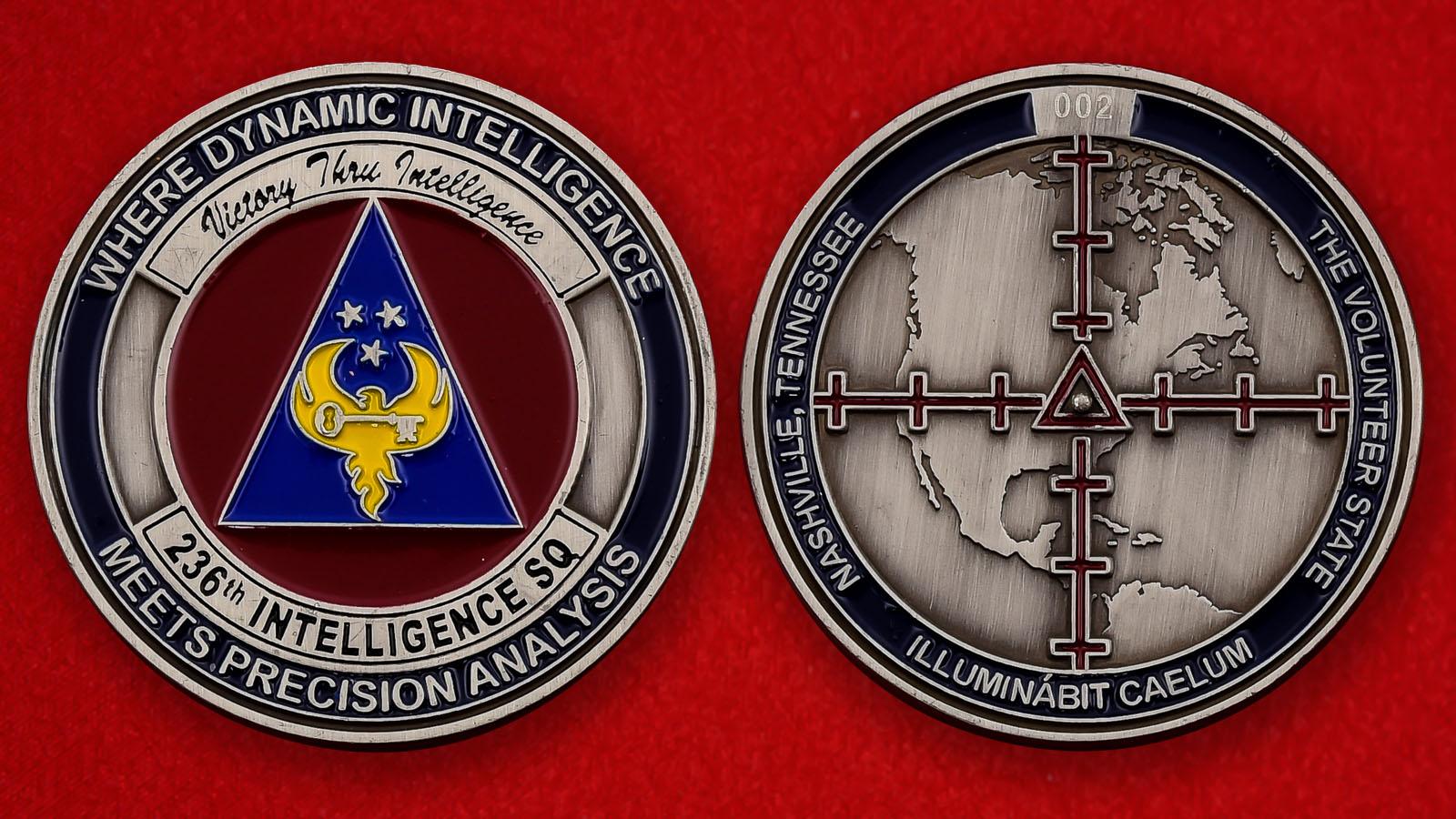 """Челлендж коин ВВС США """"236-я разведывательная эскадрилья"""""""