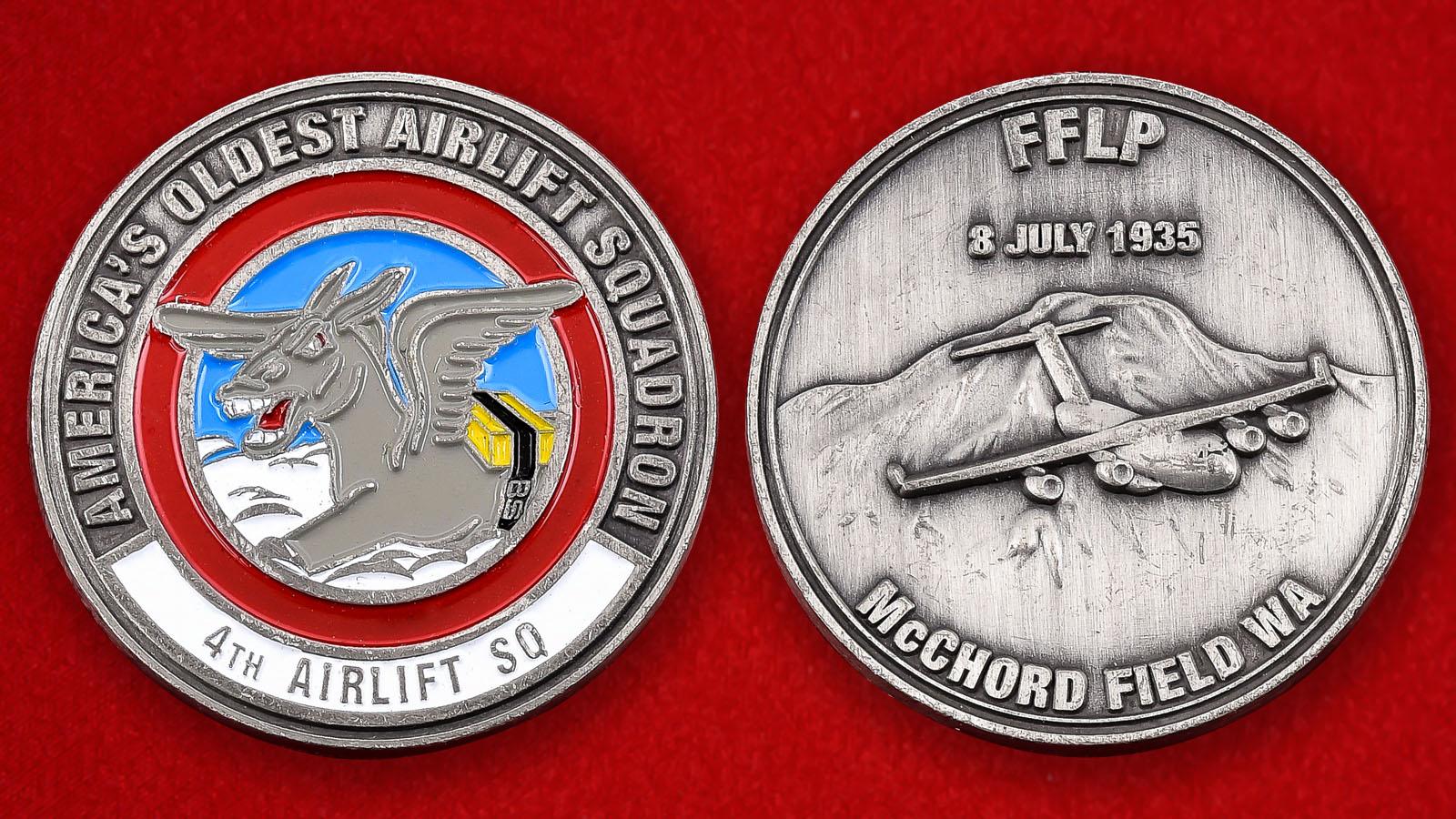 """Челлендж коин ВВС США """"4-я эскадрилья транспортной авиации"""""""
