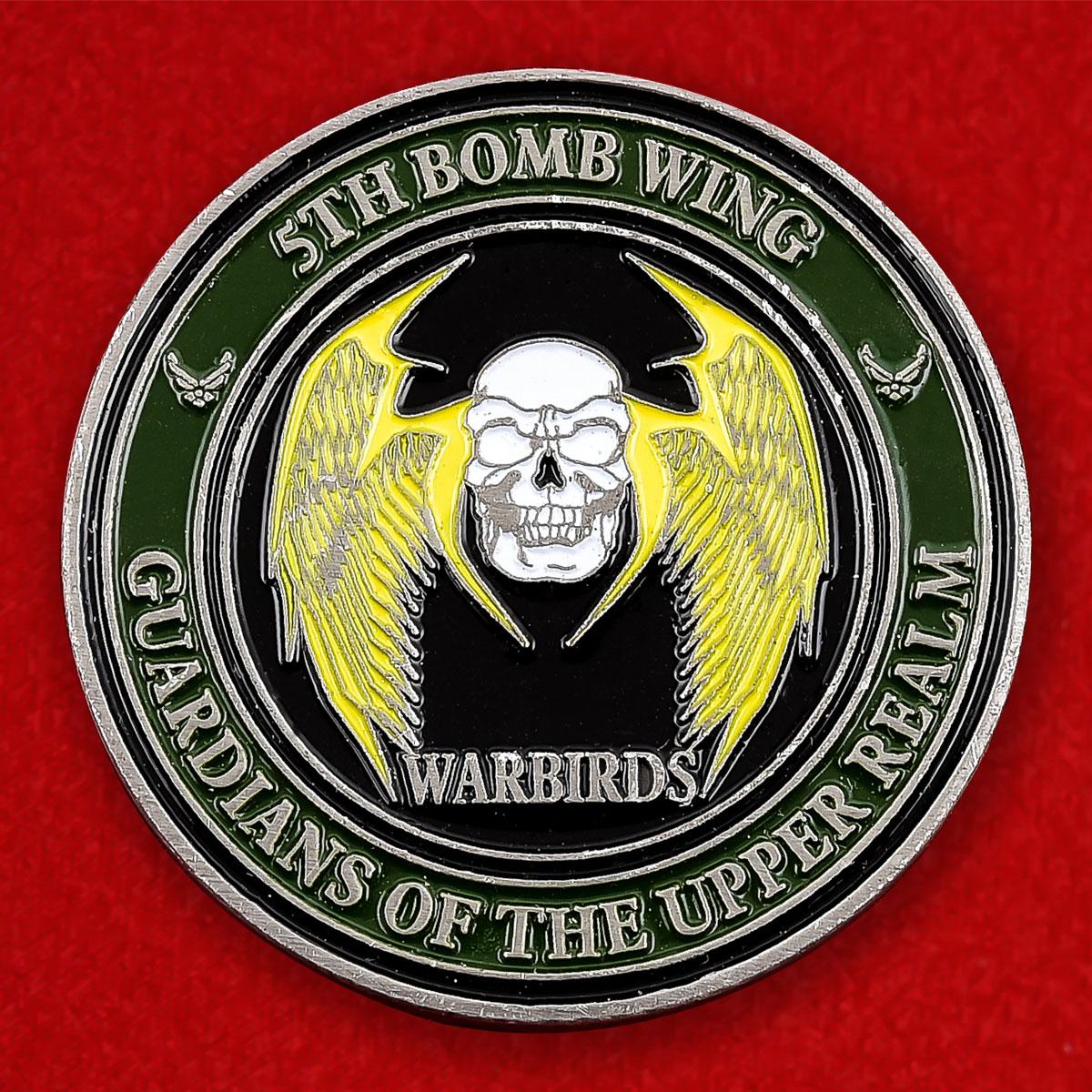 """Челлендж коин ВВС США """"5-е крыло стратегических бомбардировщиков"""""""