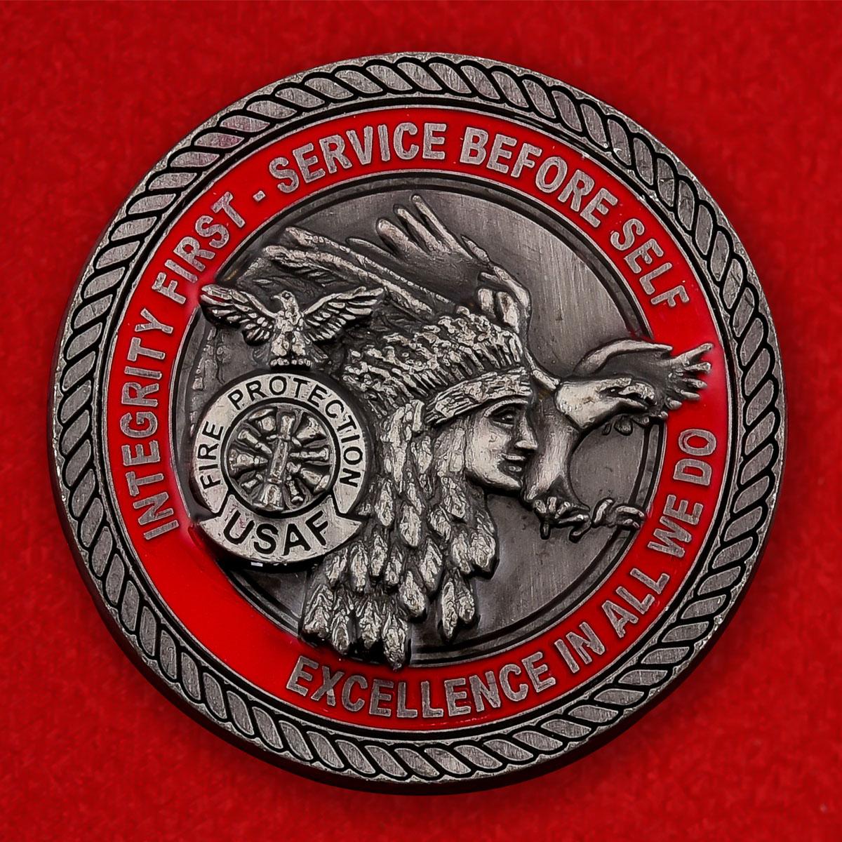 """Челлендж коин ВВС США """"514 крыло авиабазы Макгвайр, сержант Джон Фуджело"""""""