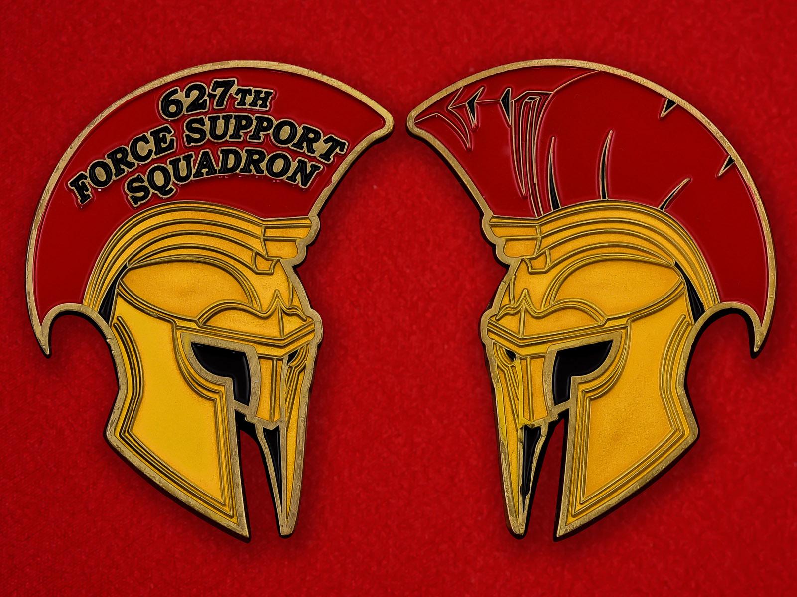 """Челлендж коин ВВС США """"627-я эскадрилья поддержки, база Льюис-МакКорд"""""""