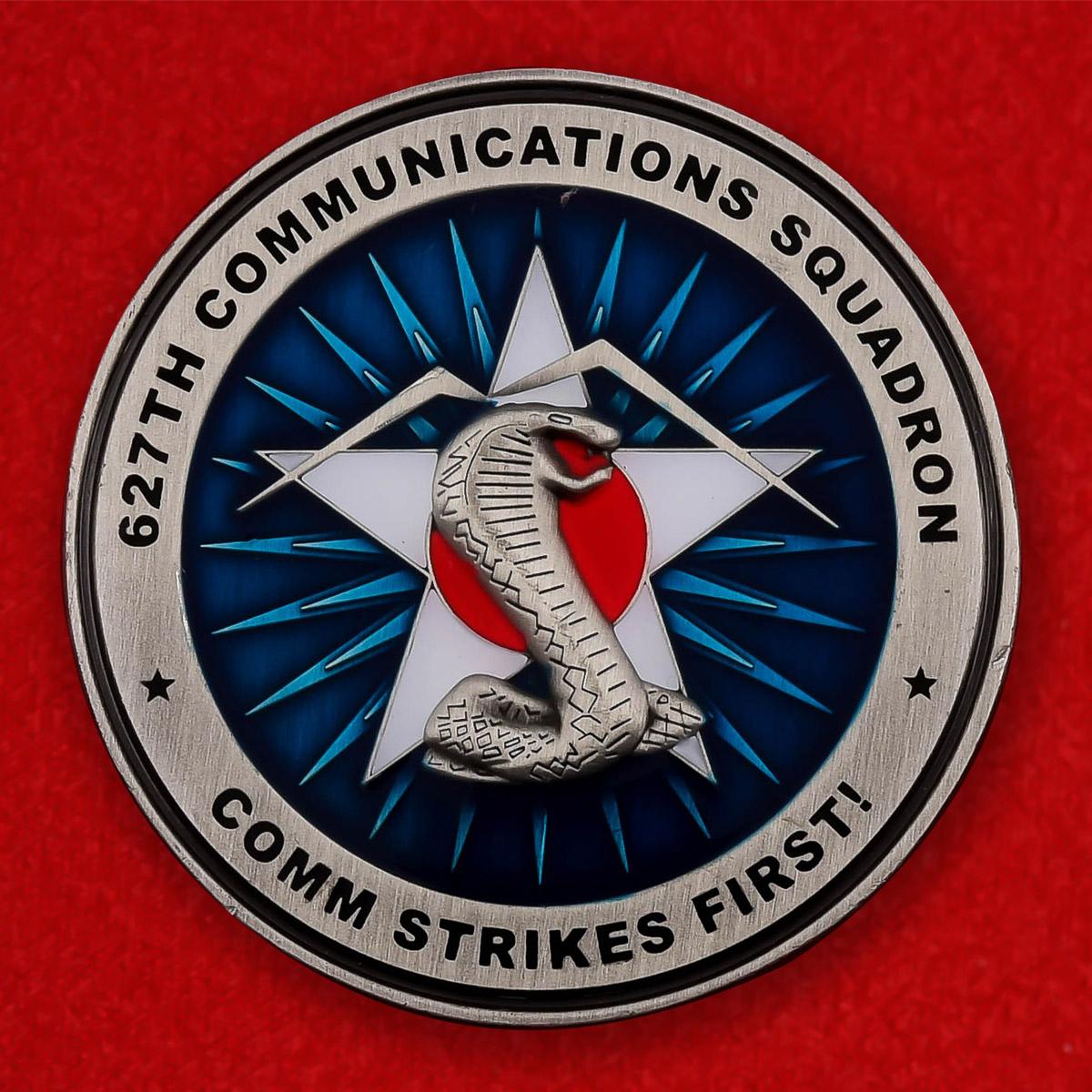 """Челлендж коин ВВС США """"627-я эскадрилья воздушной связи"""""""