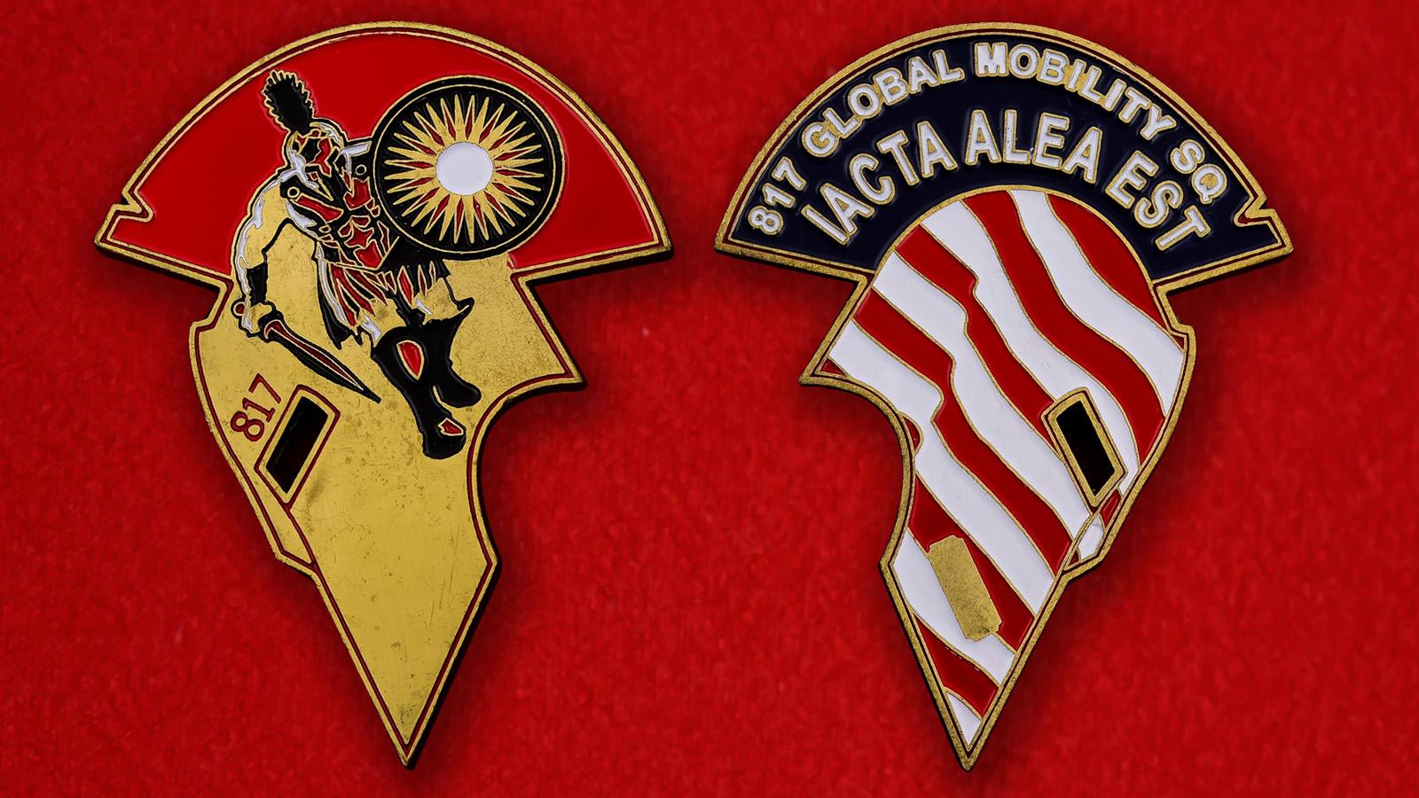 """Челлендж коин ВВС США """"817-я вертолетная эскадрилья быстрого реагирования"""""""