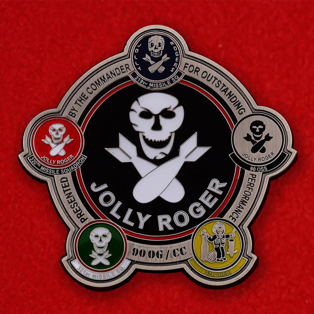 "Челлендж коин ВВС США ""90-я Оперативная группа Jolly Roger"""