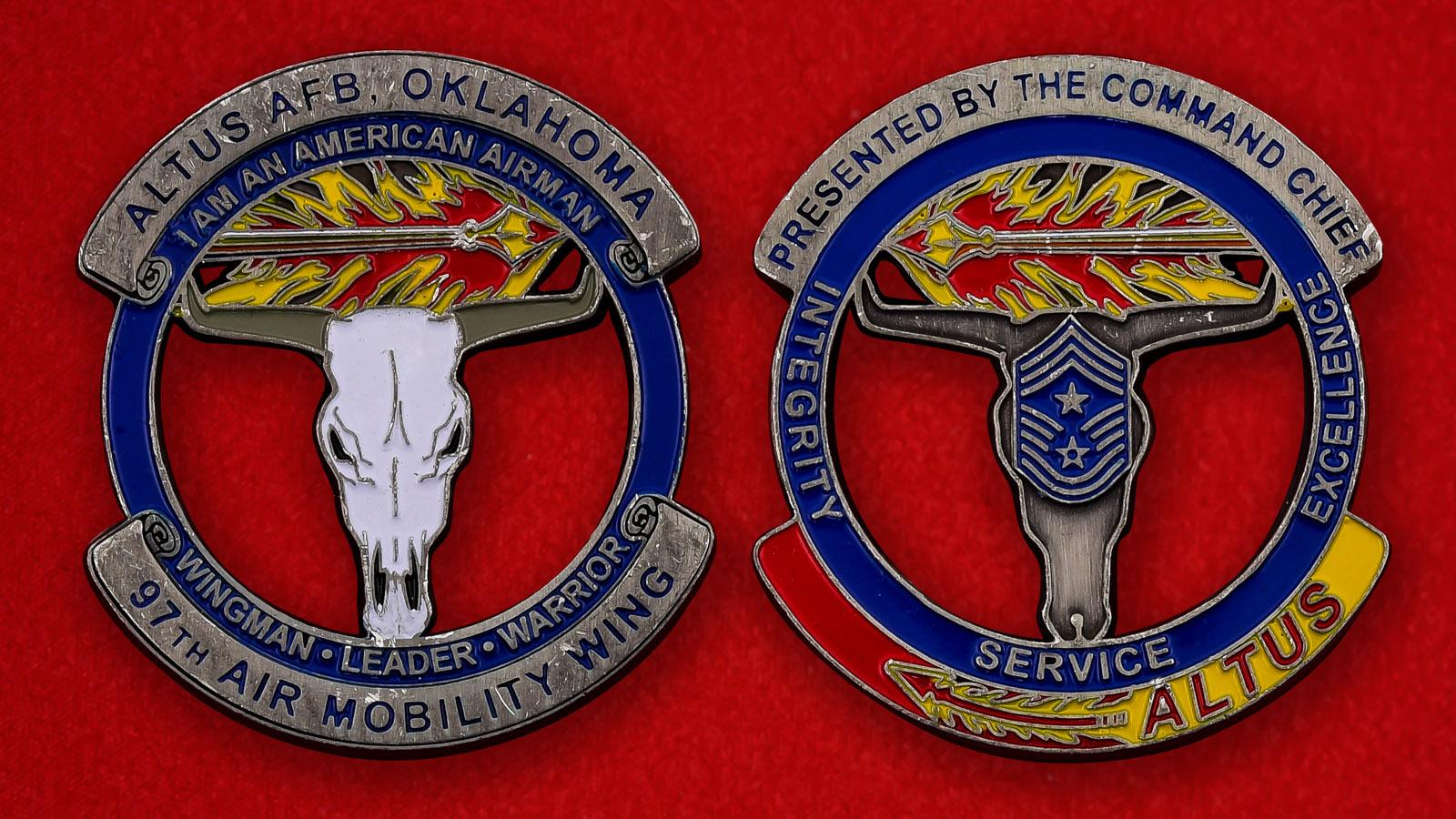 """Челлендж коин ВВС США """"97-е крыло, авиабаза Алтус, Оклахома"""""""