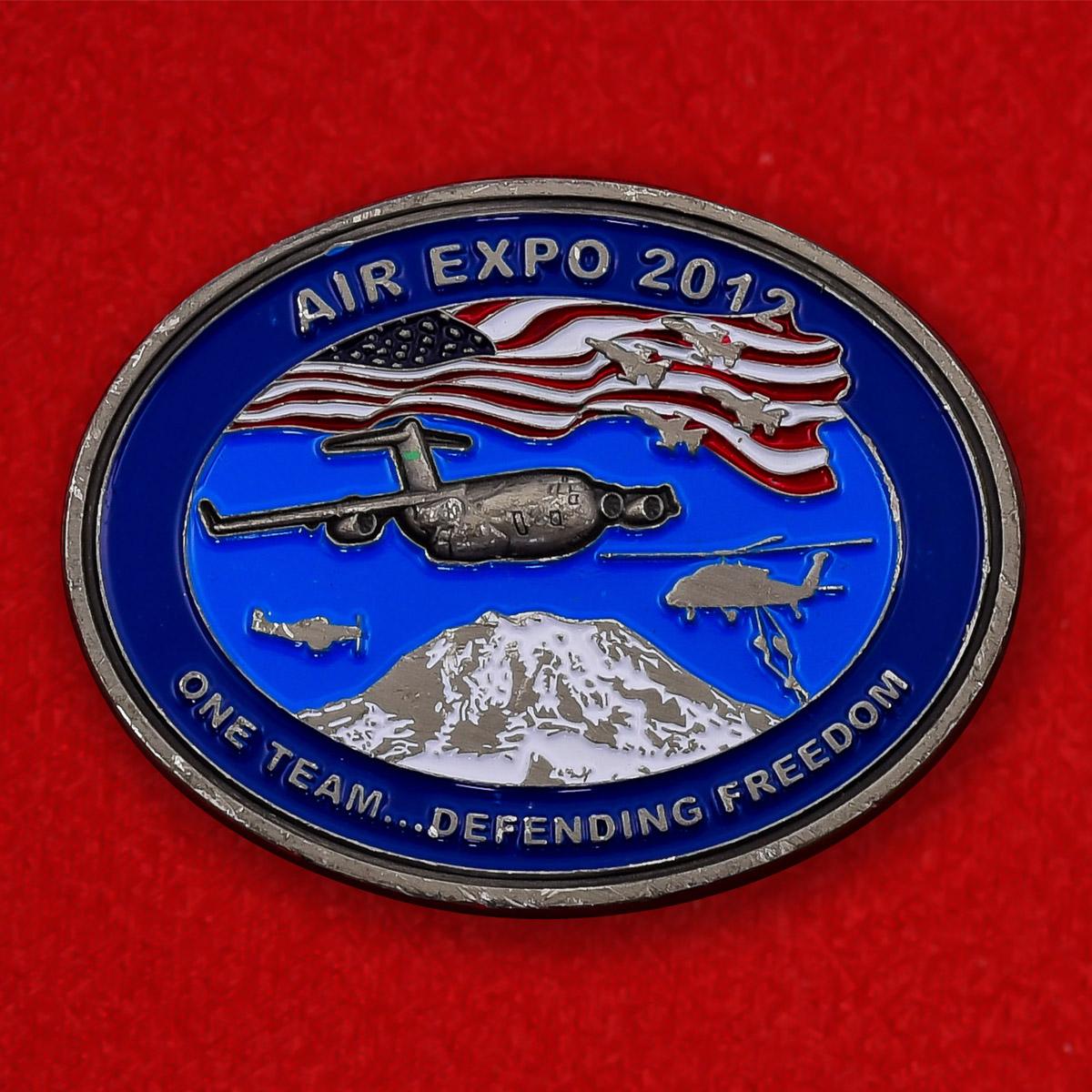 "Челлендж коин ВВС США ""Авиашоу Аir Еxpo-2012 на базе Льюис-МакКорд"""