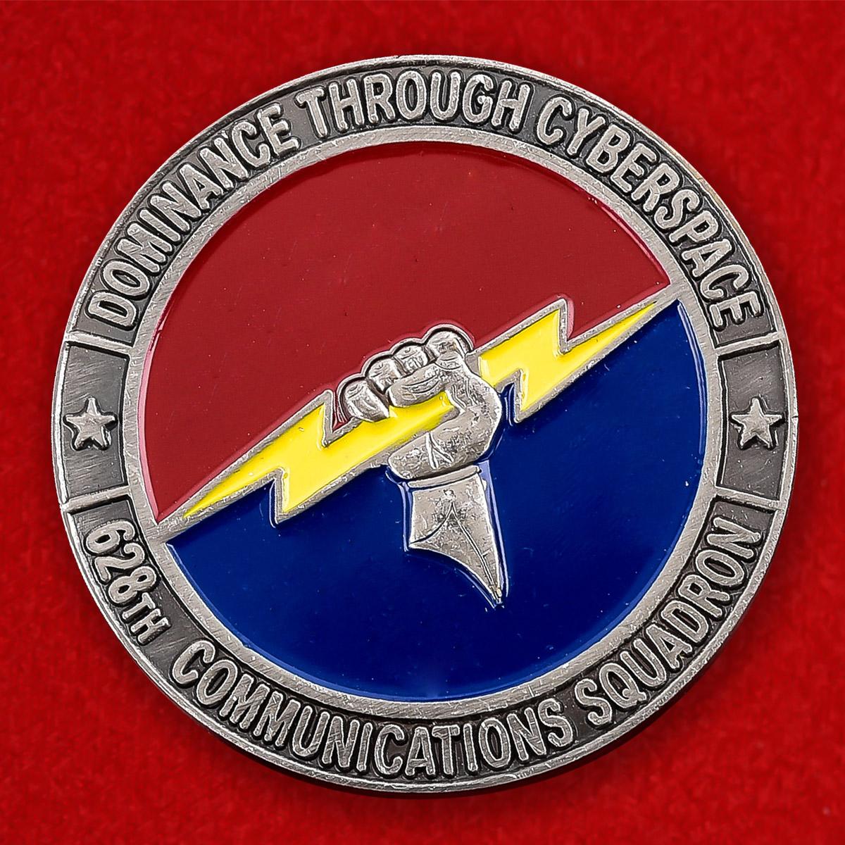 """Челлендж коин ВВС США """"От командира 628 эскадрильи воздушной связи"""""""
