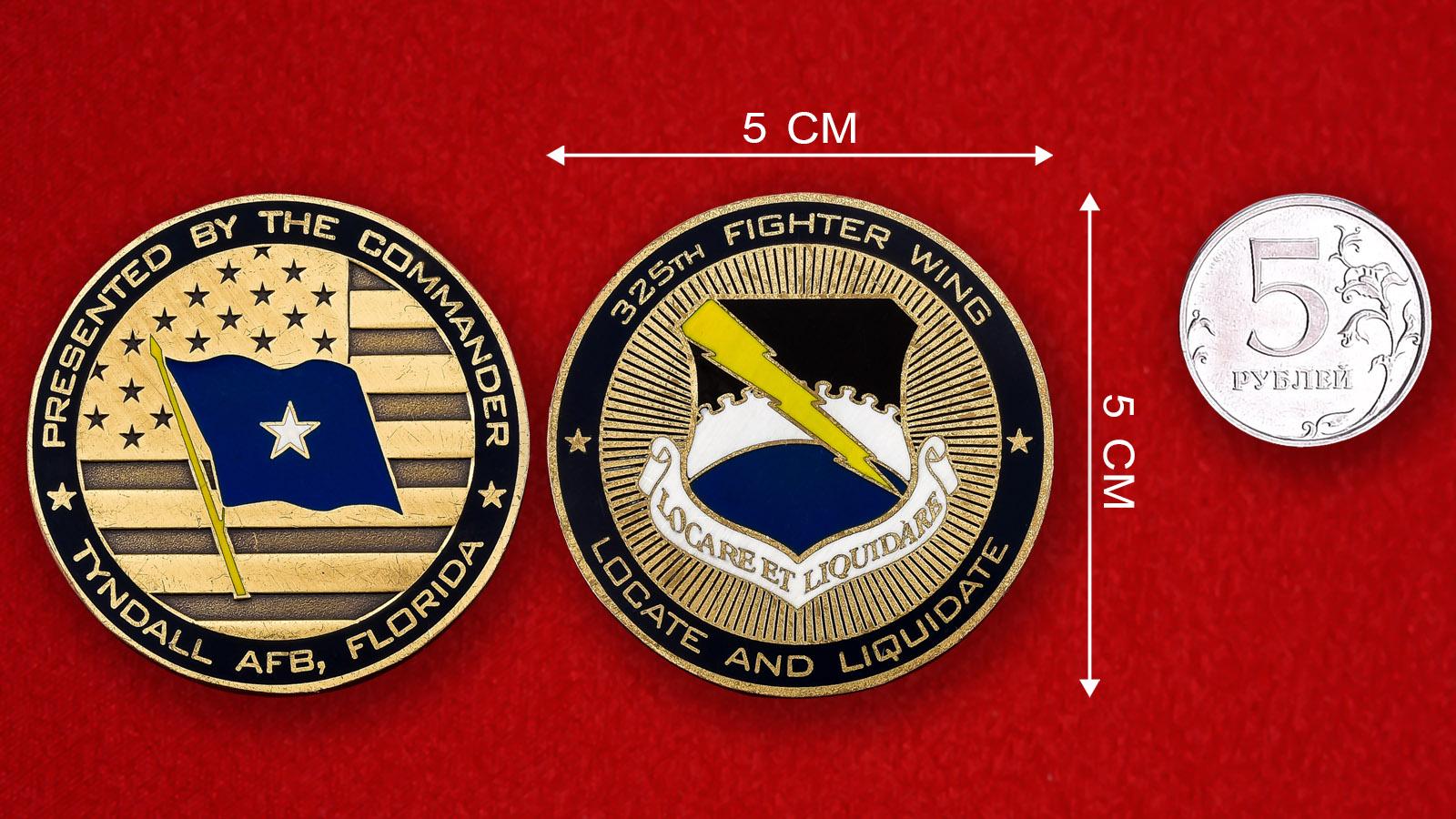 """Челлендж коин ВВС США """"От командира авиабазы Тиндалл"""""""