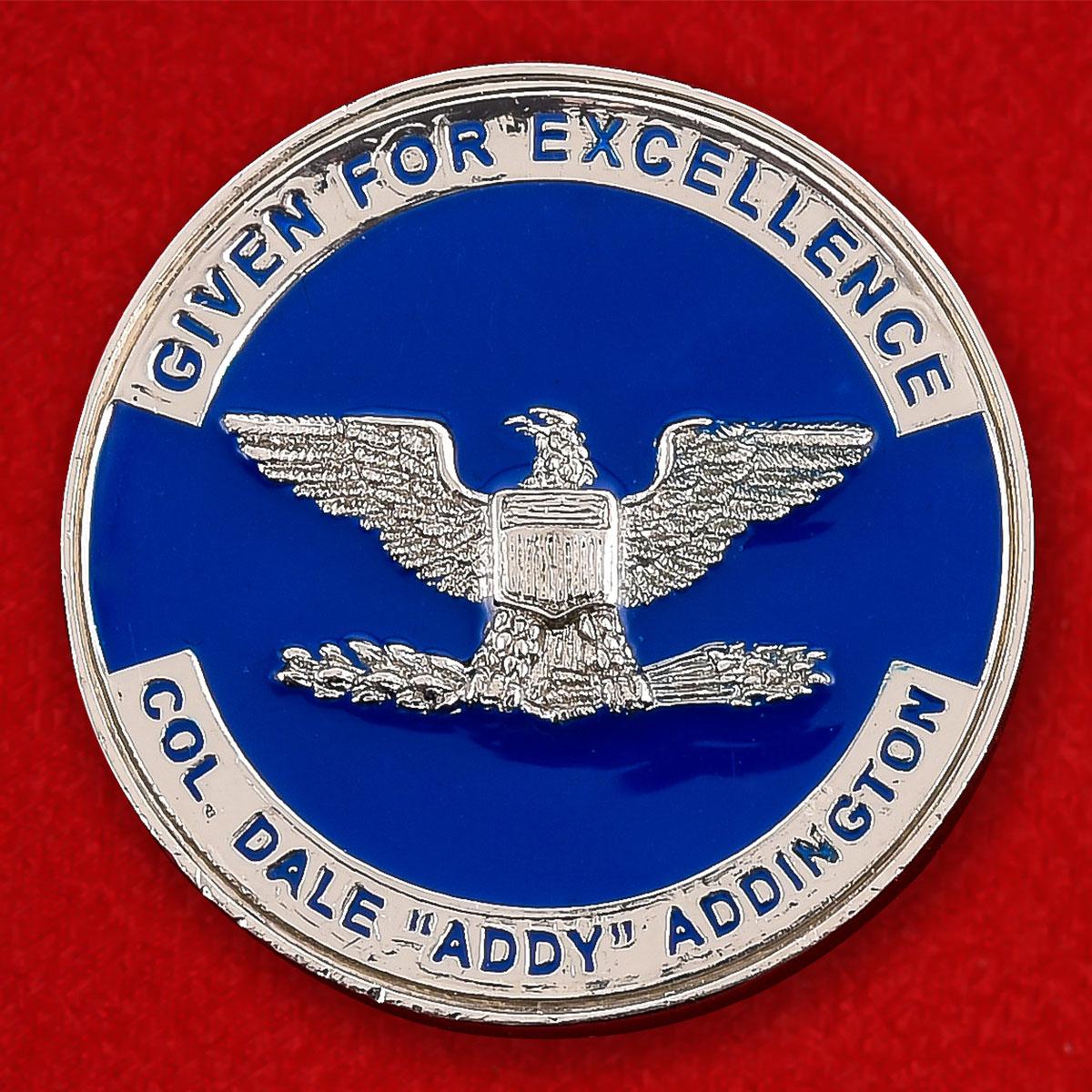 "Челлендж коин ВВС США ""От полковника Дейла ""Адди"" Аддингнота"""