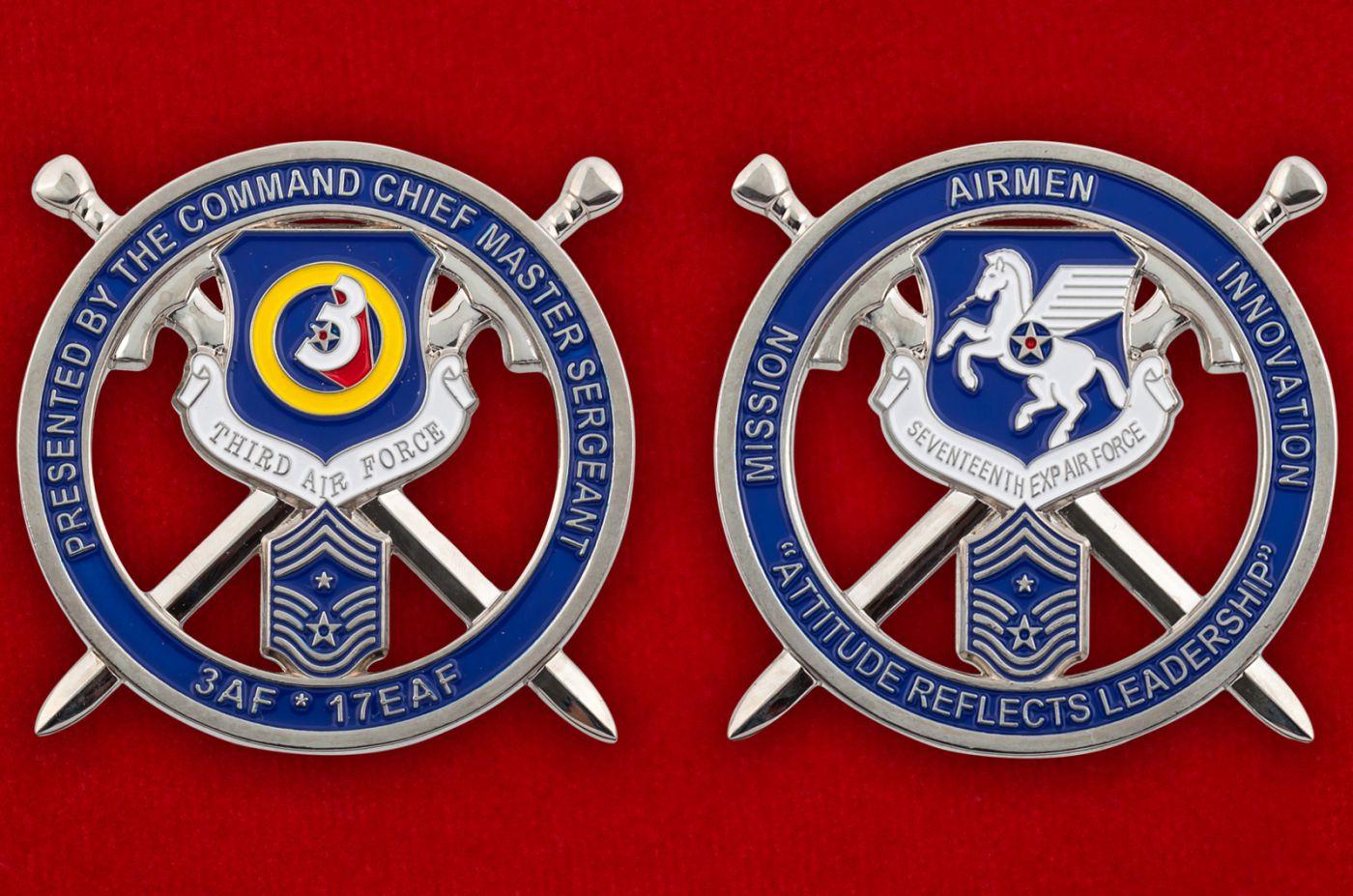 Челлендж коин ВВС США в Европе - аверс и реверс