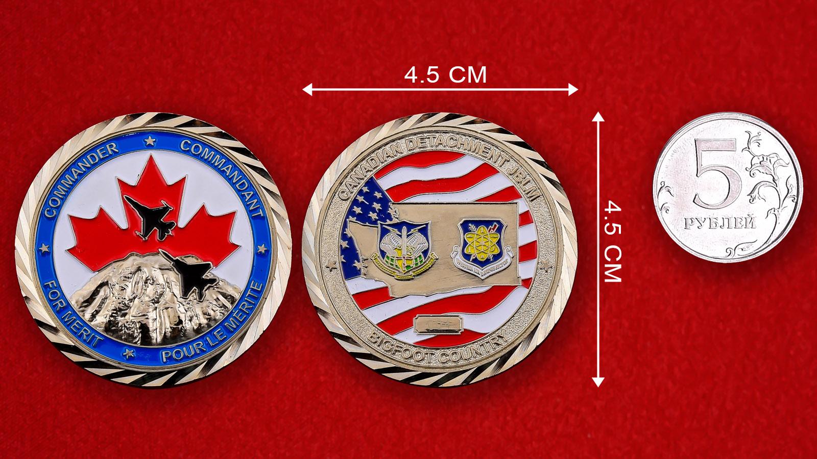 """Челлендж коин """"За заслуги"""" от командира Канадского отряда Joint Base Lewis-McChord"""""""